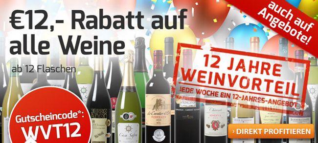 Weinvorteil1 Nur heute! Keine Versandkosten und verschiedene Gutscheine für Weinvorteil
