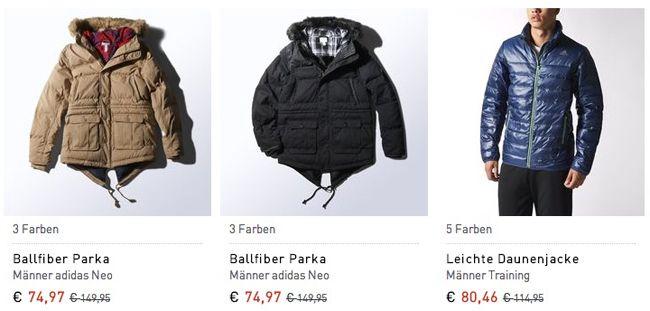 adidas Winterjacken Bis zu 50% Rabatt auf adidas Winterjacken + weitere 20% Rabatt