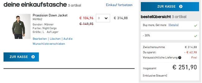 Bis zu 50% Rabatt auf adidas Winterjacken + weitere 20% Rabatt