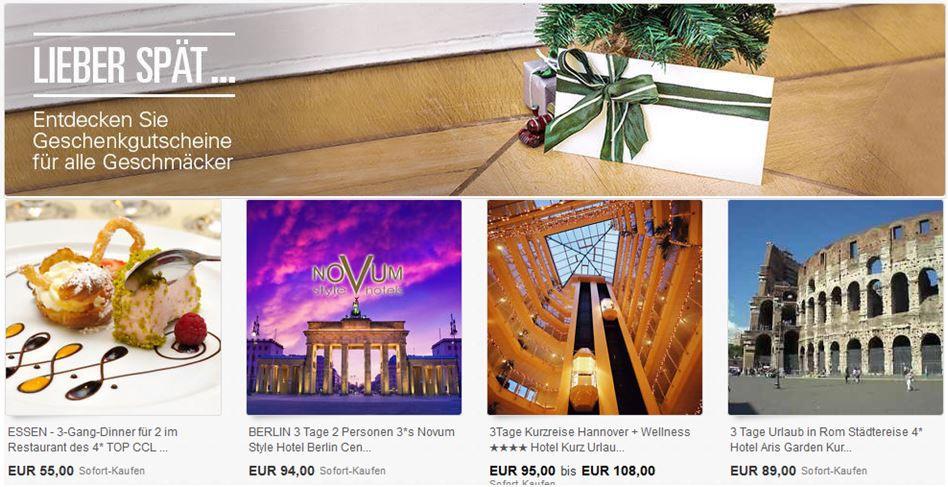ebay Tipp2: Geschenkgutscheine bei ebay!