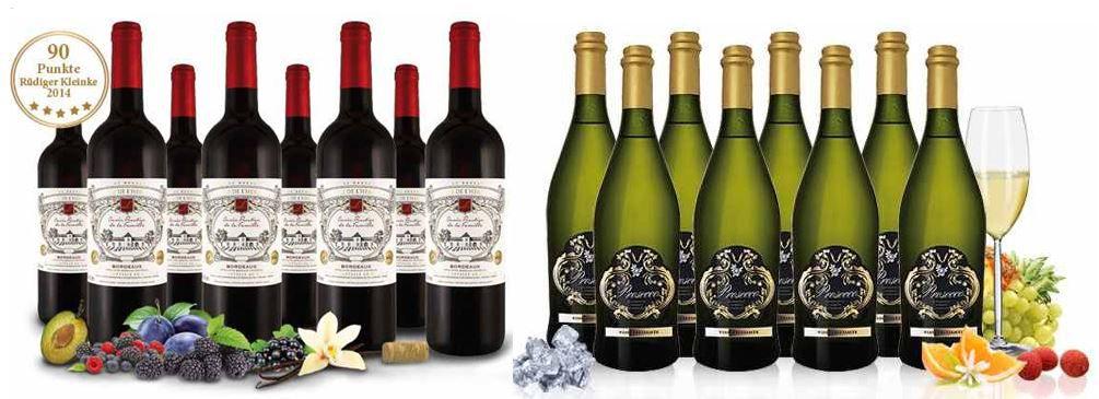 Bordeaux Château de lHermitage 8 Flaschen für 39,95€ und Prosecco Frizzante Silvio DOC 8 Flaschen für nur 34,90€   Update