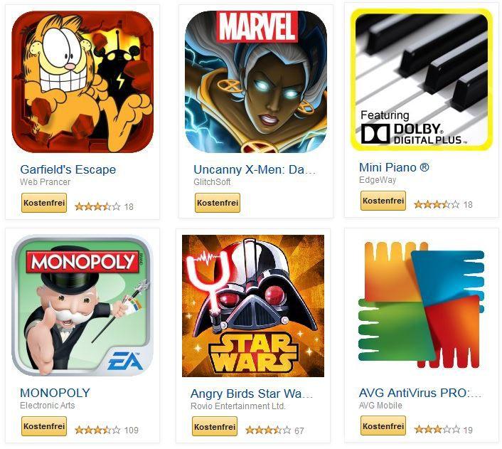 MONOPOLY, AVG AntiVirus PRO: Vollversion und weitere 31 kostenlose Amazon Android Apps für Tablets, Phones   Update