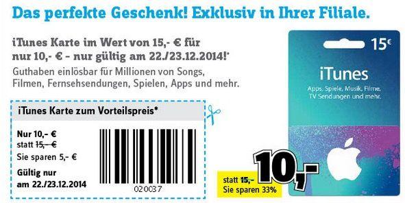 15€ iTunes Guthaben für 10€ in allen Conrad Filialen   nur offline verfügbar!