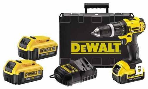 DeWalt DCD785M2   18V XR Li Ion Compact Schlag Bohrschrauber inkl. 2 Akkus 4Ah für 199€
