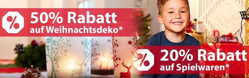50% Rabatt auf Weihnachts Deko + 20% Rabatt auf Spielzeug im NKD Online Shop