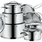 WMF Set 0711126040 Gala Plus – 7 teiliges Cromargan Edelstahl Kochgeschirr Set für nur 159,95€ (statt 230€)