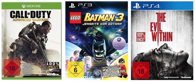 3 Games kaufen, nur 2 zahlen Aktion bei Amazon   Update!