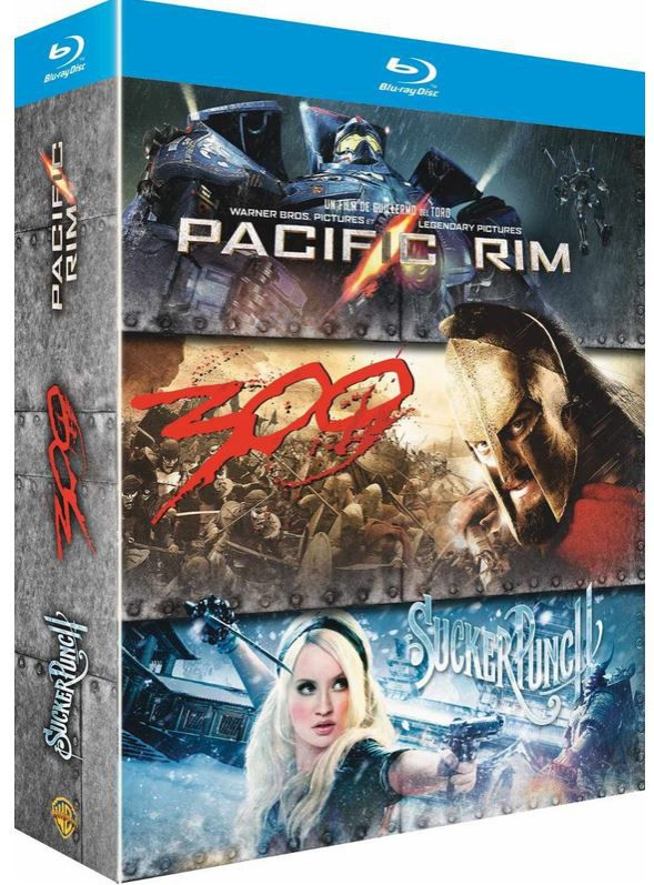 300 Pacific Rim + Sucker Punch + 300 [Blu ray + digitale Kopie] für 13,85€ inkl. Versand