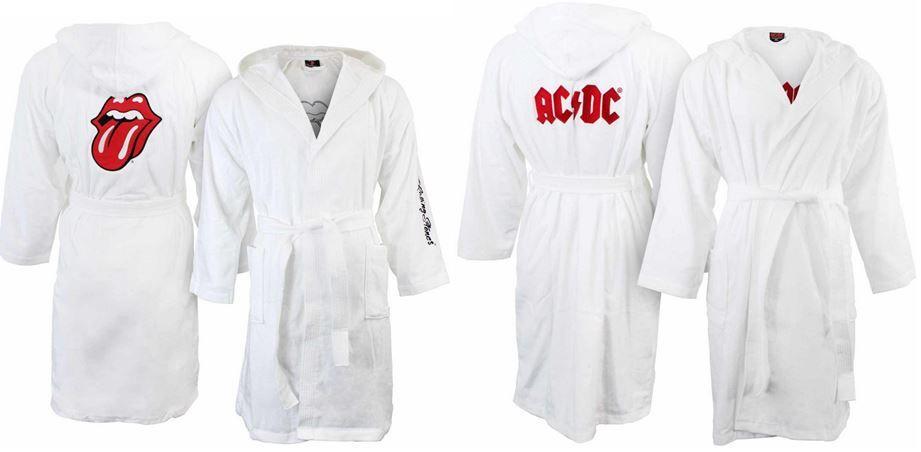 AC/DC oder Rolling Stone Bademantel für je 39,99€