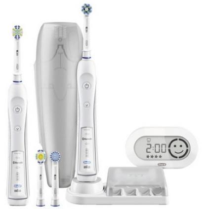 Braun Oral B Pro 6500 Elektrische Premium Zahnbürste mit 2. Handstück für 86,21€ (statt 124€)