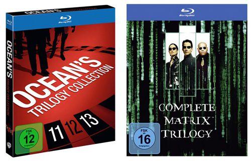 Oceans Trilogie Blu ray Collection oder Matrix Trilogie Blu ray für jeweils 14,99€