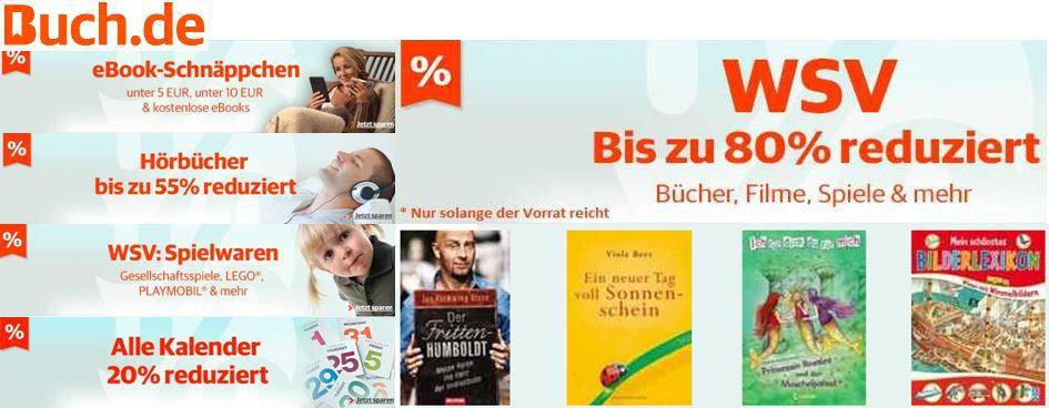 Buch.de   WSV mit bis zu 80% Rabatt auf Bücher, Filme, Spiele & mehr