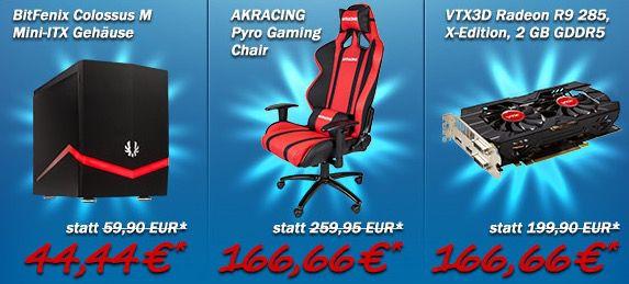 12 Jahre Caseking mit ausgewählten Angeboten   z.B. AKRACING Pyro Stuhl statt 237€ für 173€
