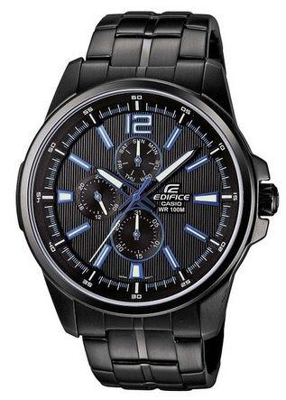 Casio Edifice XL EF 343BK 1AVEF Herren Armbanduhr für 74,50€