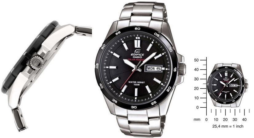 Casio EFR 100SB 1AVEF Edifice Solar Kollektion   Herren XL Uhr für 84,50€