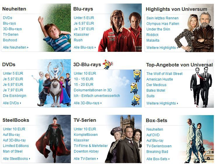 Box Sets bei der 7 Tage Blu ray & DVD Tiefpreis Amazon Aktion   Update!