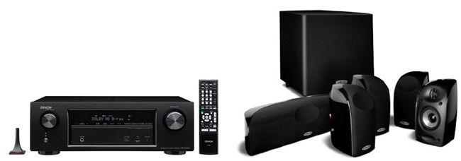 Denon AVR X1100 7.2 Netzwerk Receiver + Polk Audio TL 1600 5.1 Lautsprecher für 444€