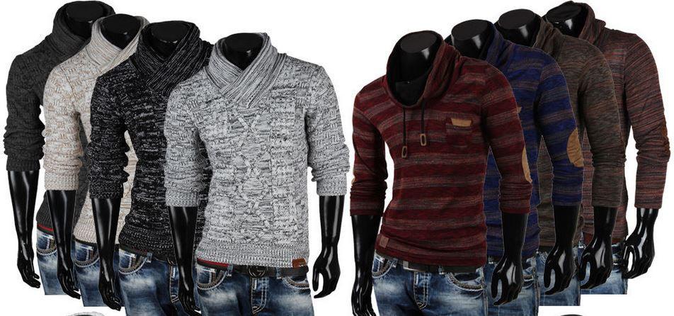 Fashion Sale EMIMAY   Herren Pullover, Grobstrick Pullis, Sweatshirts für je 22,95€