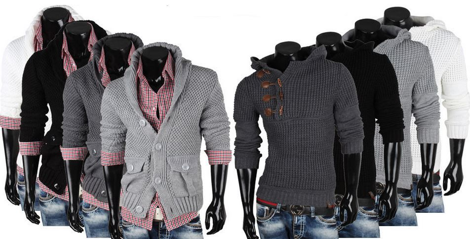 EMIMAY   Herren Pullover, Grobstrick Pullis, Sweatshirts für je 22,95€
