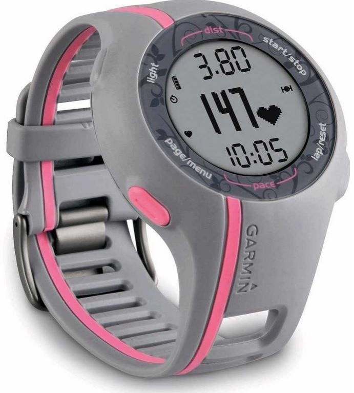 Garmin GPS Laufuhr Garmin Forerunner 110W   Damen GPS tracking Sportuhr mit Brustgurt für 99€   Update!