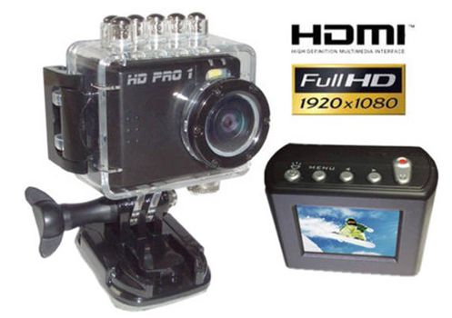 HD PRO 1 Action Cam   Full HD, 5 Megapixel und 4 fach dig. Zoom für 37,95€ (statt 49€)