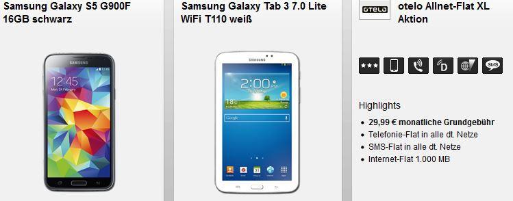 otelo Allnet Flat XL + Samsung Galaxy Note 4 monatl. 29,99€ für einmalig 99€
