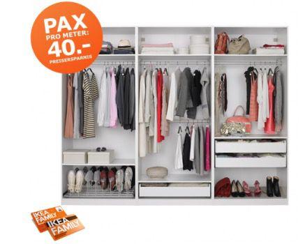 pro Meter Aktion bei Ikea – bis zu 40€ Rabatt pro Meter Kleiderschrank