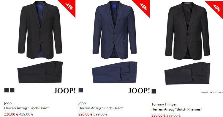 Marken Herren Anzüge bis zu 66% reduziert bei Engelhorn (Joop Anzug ab 220€)