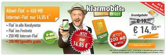 Klarmobil Telekom Allnet Flat + 450MB Daten für 14,85€   mit iPhone 5 (refurb.) für 24,85€ monatl.