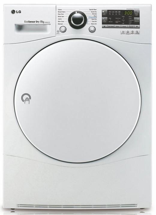 LG Wärmepumpen Trockner LG RC 8055 AH1Z   Kondens Wärmepumpentrockner   max. 8KG Wäsche für 559,99€