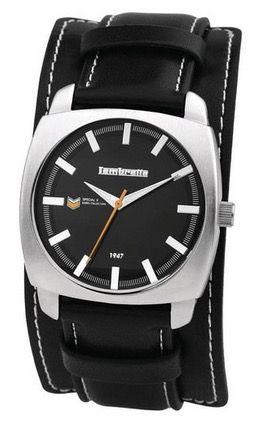 Lambretta 2142BLA Rebel Armbanduhr mit Lederarmband für 22,99€