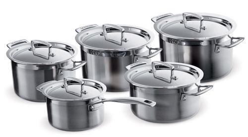 Le Creuset 3Ply Mehrschicht Kochtopfset 5 teilig für 285,50€