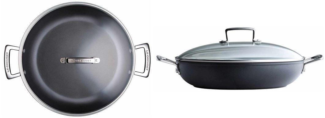Le Creuset Le Creuset   Aluminium Antihaft Profi Pfanne mit Glasdeckel (24 cm) statt 115€ für 68,01€   Update