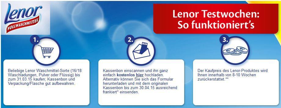 Lenor Waschmittel (16/18 Waschladungen, Pulver oder Flüssig) gratis dank Cashback!