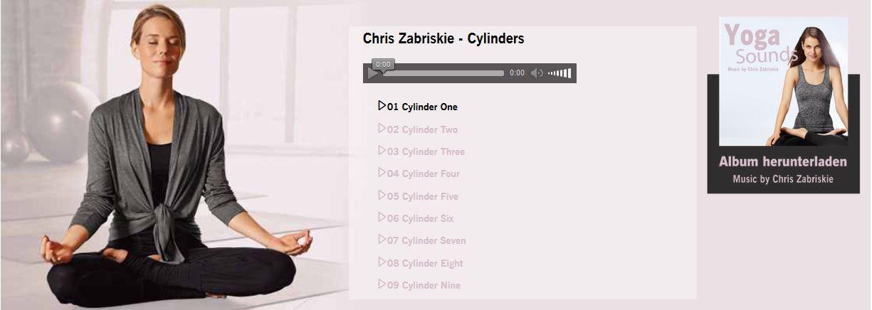 Kostenlos: MP3 Meditations Musik von Chris Zabriskie Cylinders im Download bei Lidl