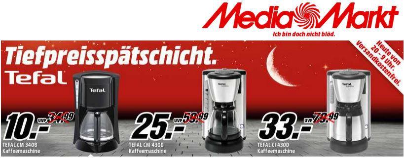 MediaMarkt ROWENTA Kaffeemaschine ab 5€   Update!