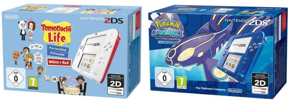 Nintendo 2DS + Tomodachi Life oder Pokemon Alpha Saphir für je 99,90€