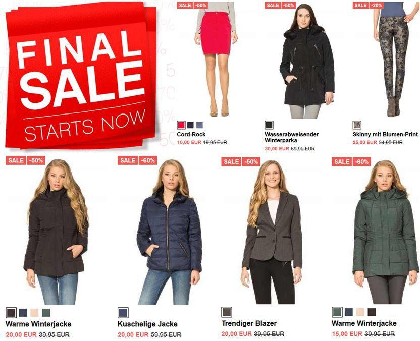 Orsay ORSAY Damen Fashion im Final Sale bis zu 70% Rabatt z.B. Winter Jacken ab 15€   Update