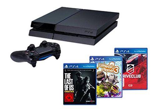 Sony Playstation 4 [CUH 1116A] + The Last of Us + Drive Club + Little Big Planet 3 für 330€