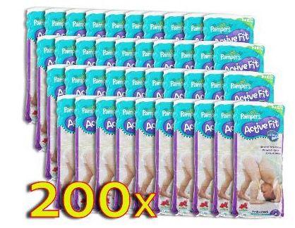 Pampers Active Fit Vorteilspack mit 200 Windeln für 39,99€   Active Fit 3 (4 9kg) und Active Fit 4 (7 18kg)