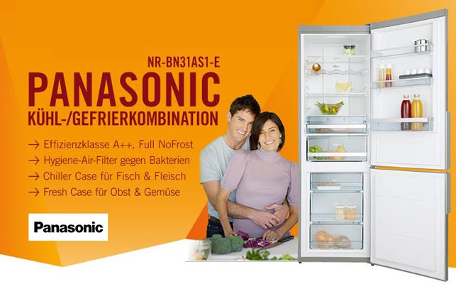 Panasonic NR BN31AS1 E Panasonic NR BN31AS1 E   Kühl /Gefrierkombination mit NoFrost für 528,90€