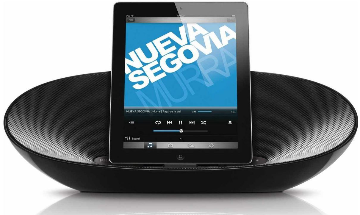 Philips DS8400   Bluetooth Lautsprecher mit Lightning Dock für 105,90€