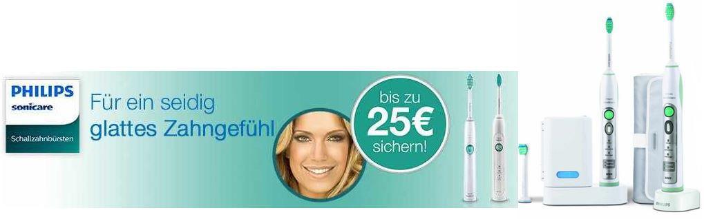 Philips Sonicare Schallzahnbürsten mit bis zu 25€ Rabatt bei Amazon