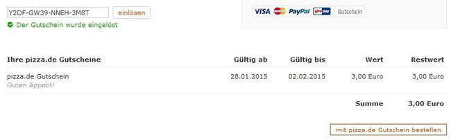 Pizza Gutschein Bis 14€ Pizza.de Gutschein ohne Mindestbestellwert   Update