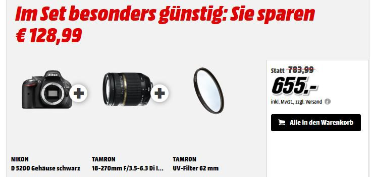 Preisfehler1 Systemfehler? Nikon D5200   24,1 MP SLR Digitalkamera Body ab 306€   Update