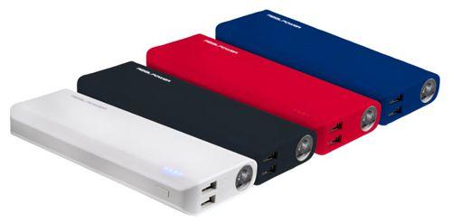 Realpower PB 10000 Powerbank mit integrierter LED Taschenlampe für 15€