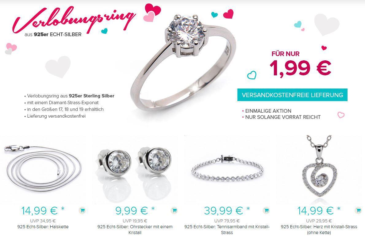 Silvity.de Rausverkauf   z.B. Silber Verlobungsring ab 1,99€ + Gutschein