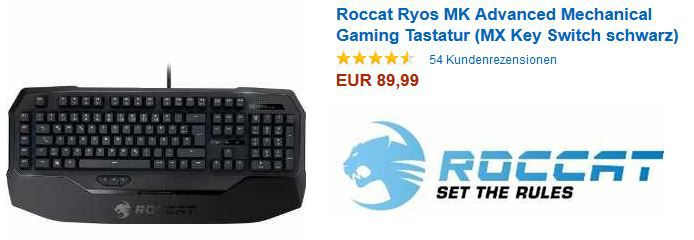 Roccat Ryos MK Pro Mechanical Gaming Tastaturen ab 89,99€   Update