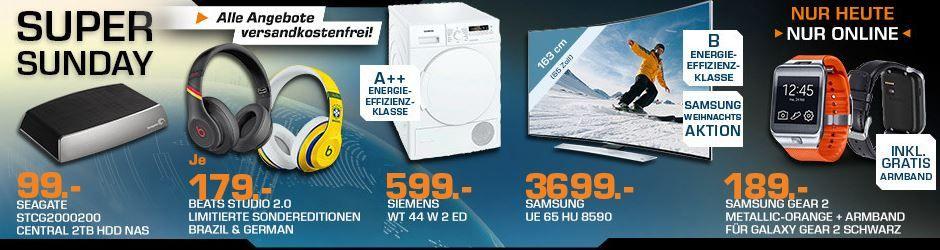 Saturn Super Sunday SIEMENS WT 44 W 2 ED   Trockner für 599€ und mehr Saturn Super Sunday Angebote