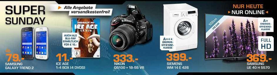 Saturn Super Sunday2 NIKON D5100 + 18 55mm VR Objektiv für 333€ und mehr Saturn Super Sunday Angebote